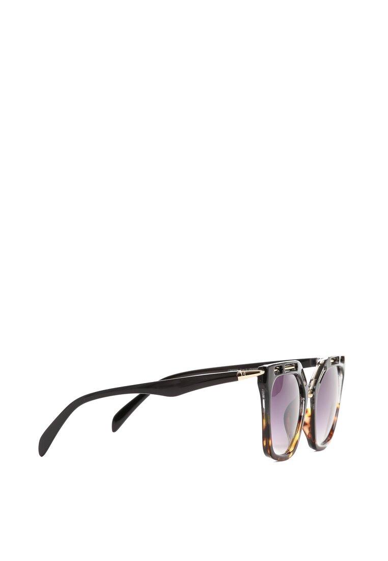 Brązowo-Złote Okulary Green Velvet