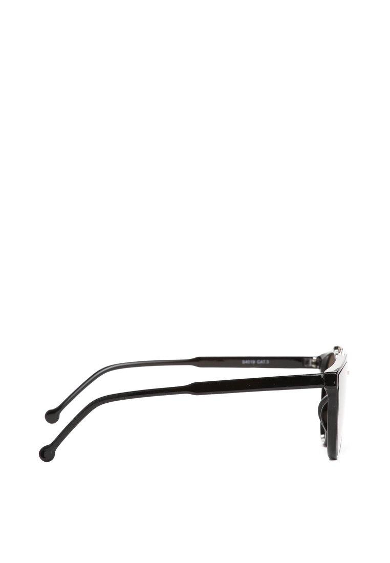 Czarno-Srebrne Okulary Celeste