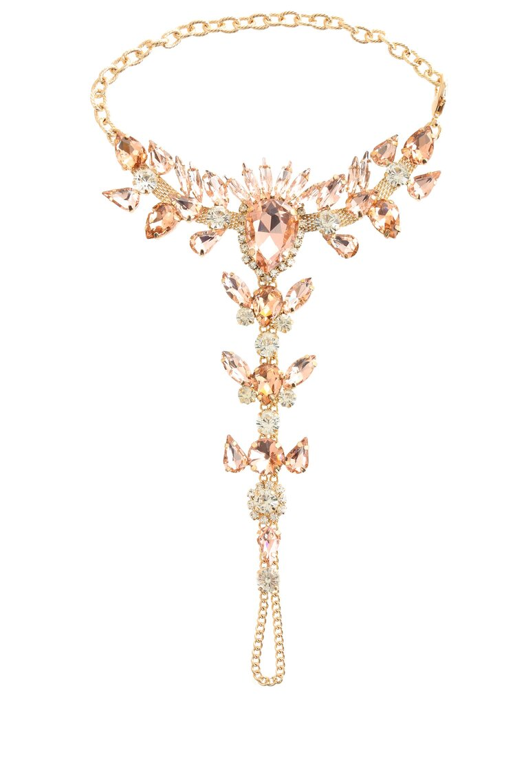 Złota Biżuteria na Stopy Flame