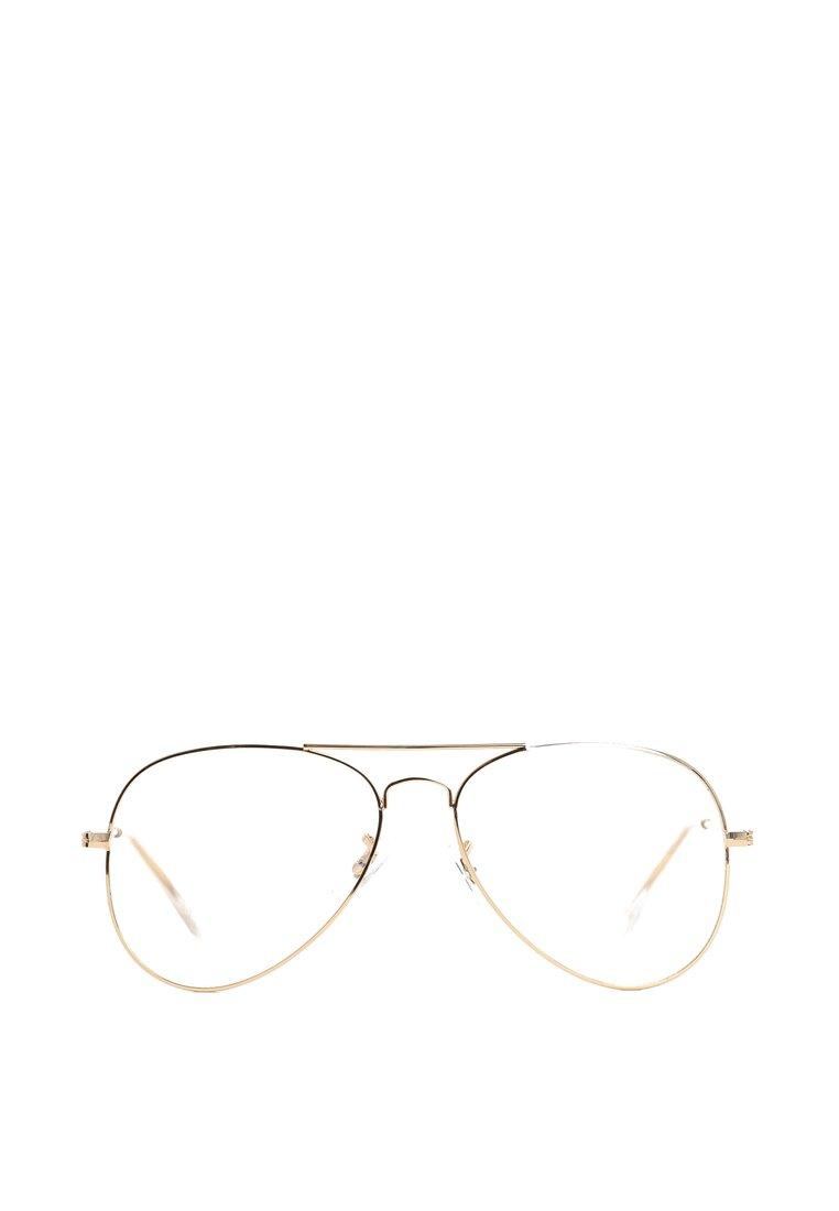 Złoto-Białe Okulary Zerówki Pilot Girl