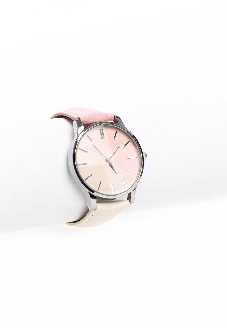 Różowo-Beżowy Zegarek Don't Run Away