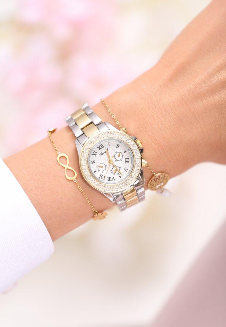 Srebrno-Złoty Zegarek What a Luck