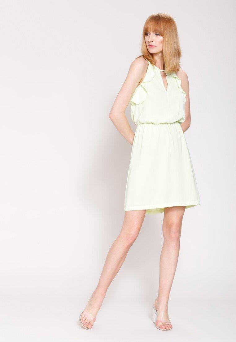 Jasnozielona Sukienka High Standard