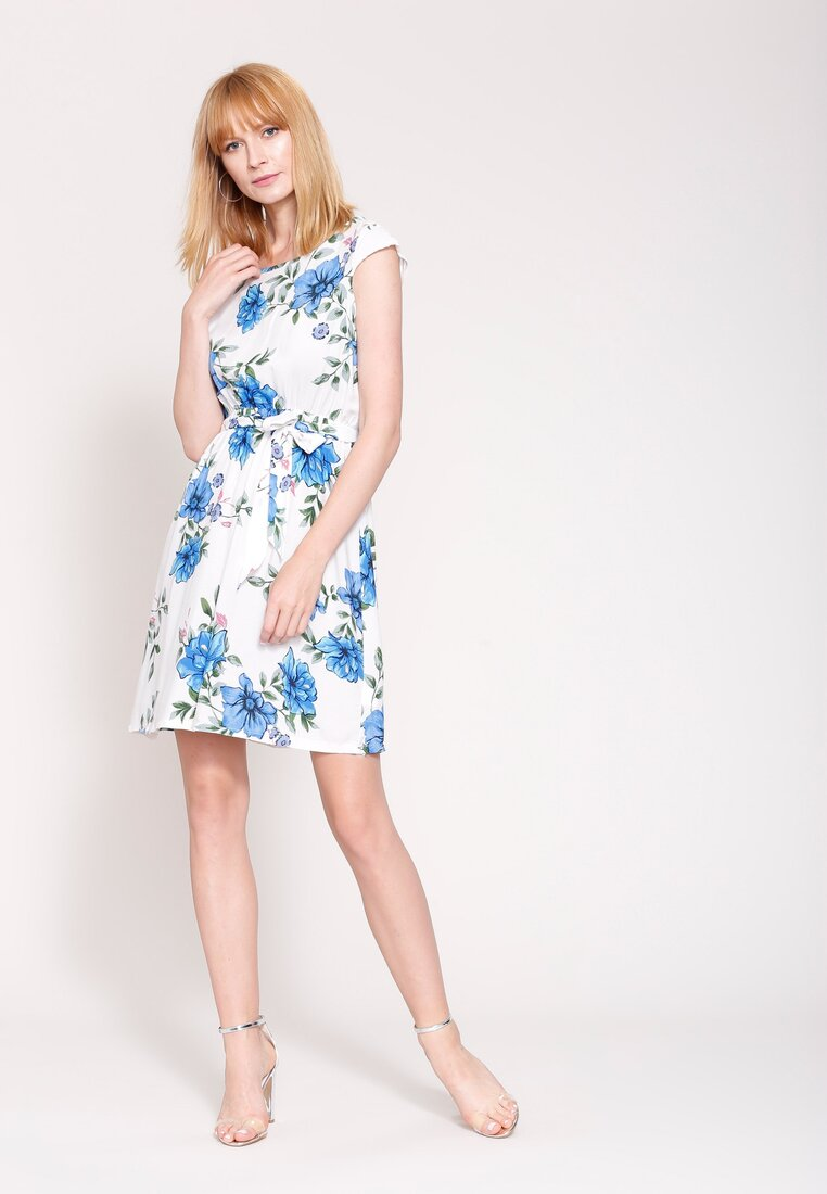 Biała Sukienka Rose's Garden