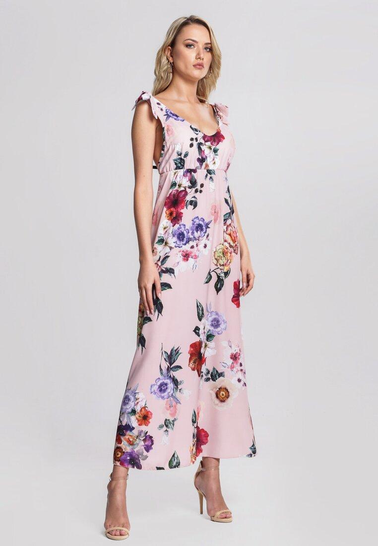Różowa Sukienka Romantic Empire