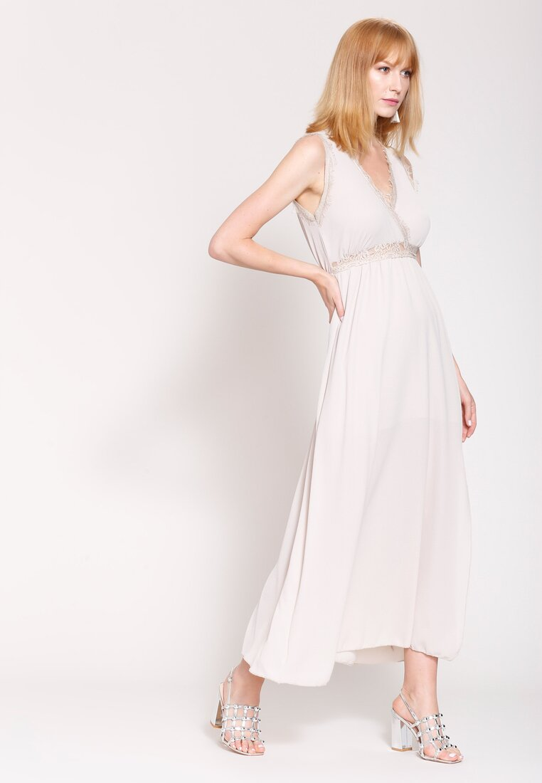 Beżowa Sukienka Great Look