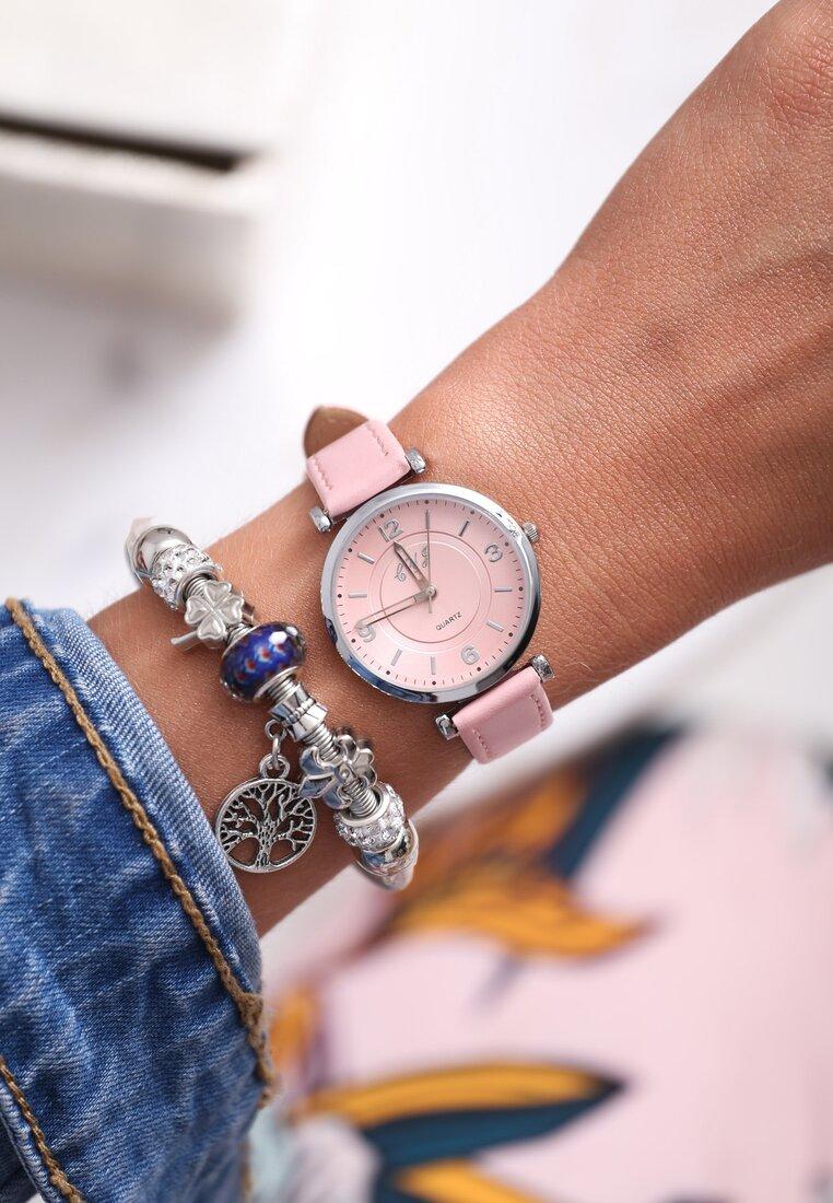 Różowy Zegarek Casual Feeling