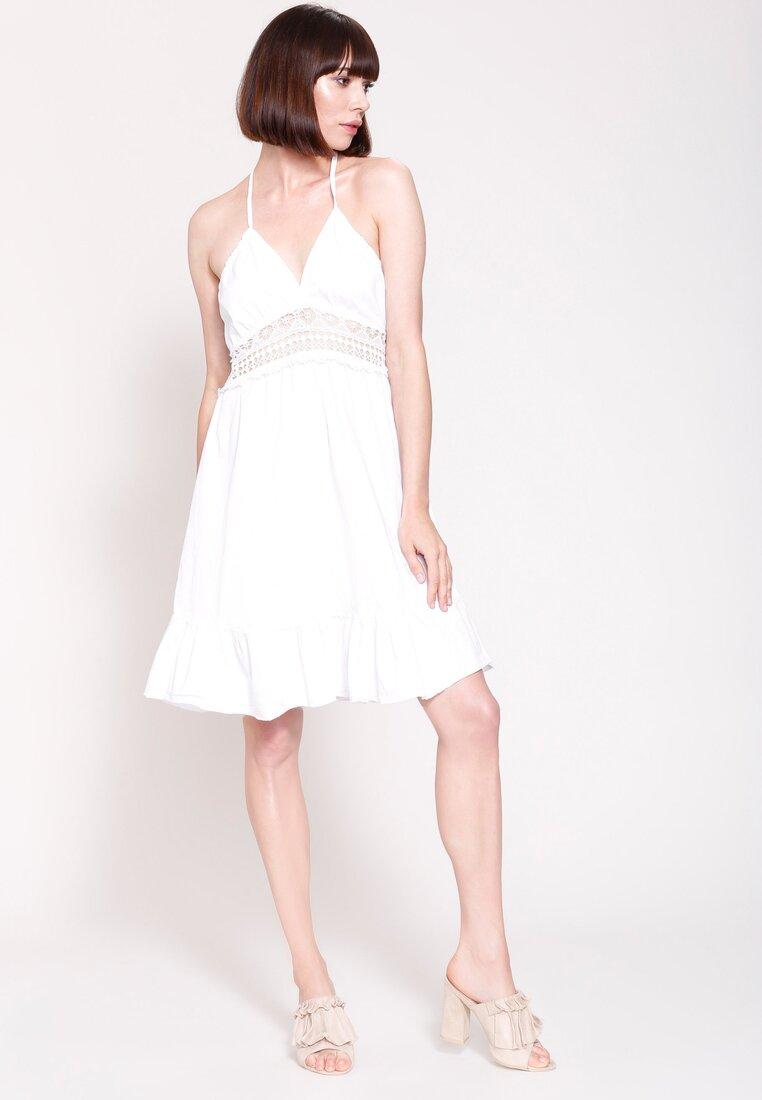 Biała Sukienka You Don't Fool Me