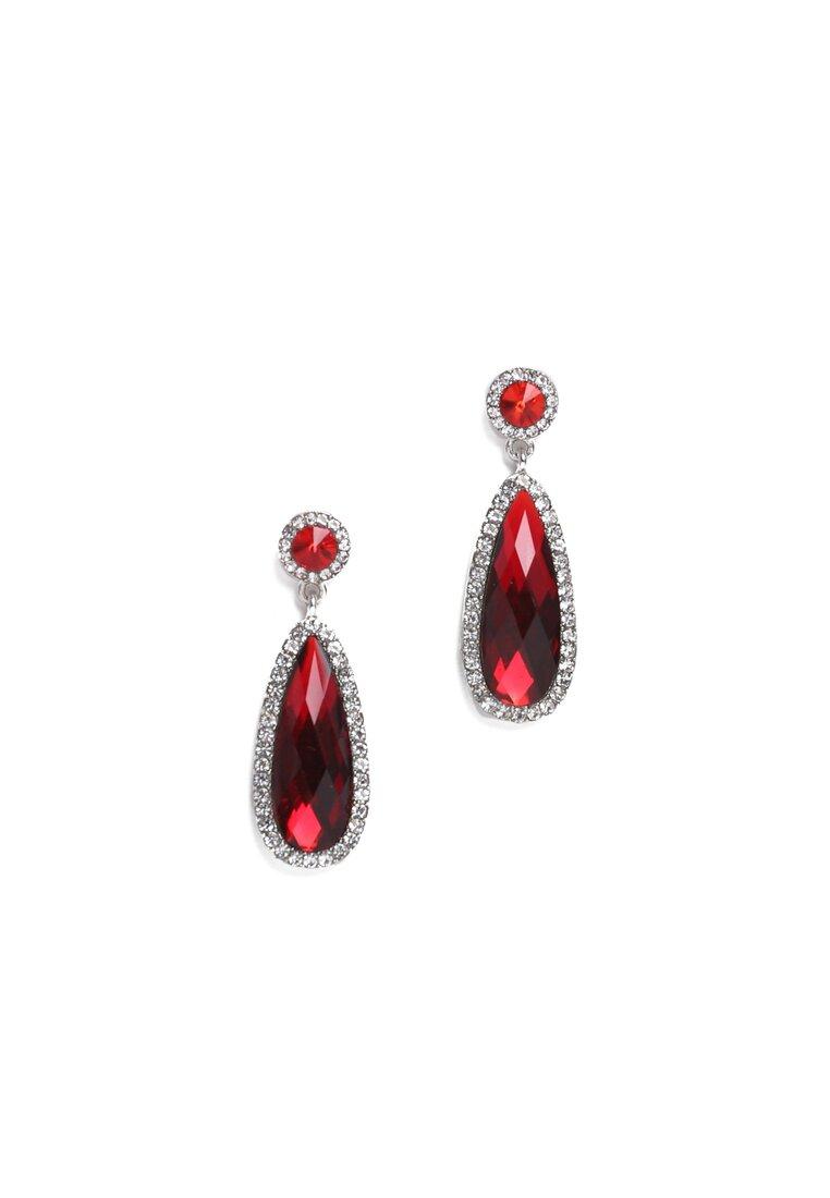 Czerwone Kolczyki Crystal Shine