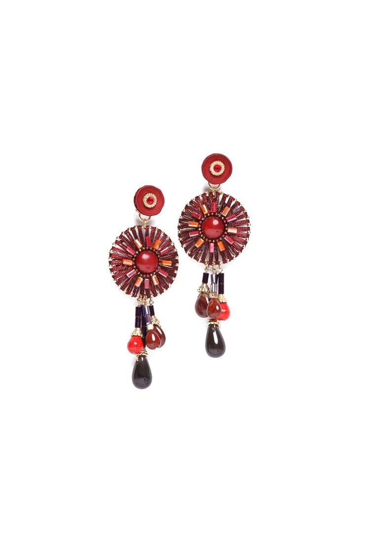 Czerwone Kolczyki Indian Treasure