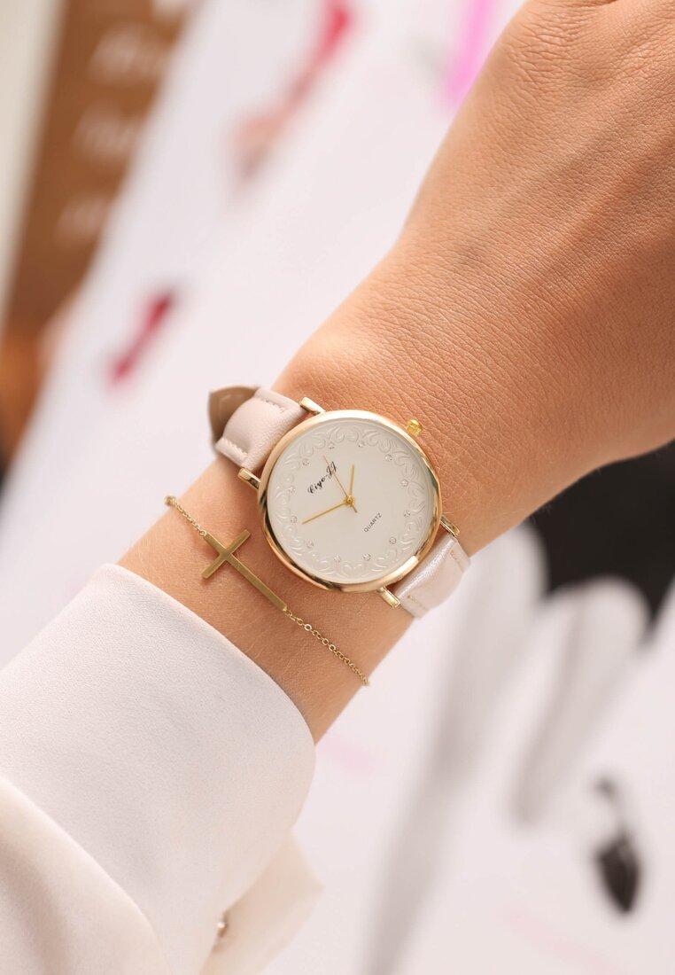 Jasnobeżowy Zegarek Take What You Want