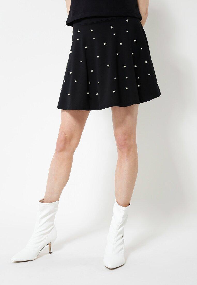 Czarna Spódnica Retro Dots