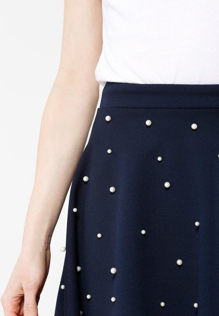 Granatowa Spódnica Retro Dots