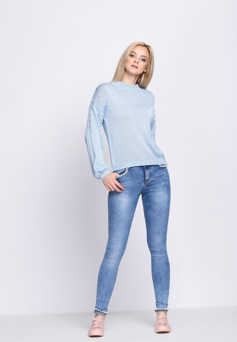 Niebieski Sweter One Night More