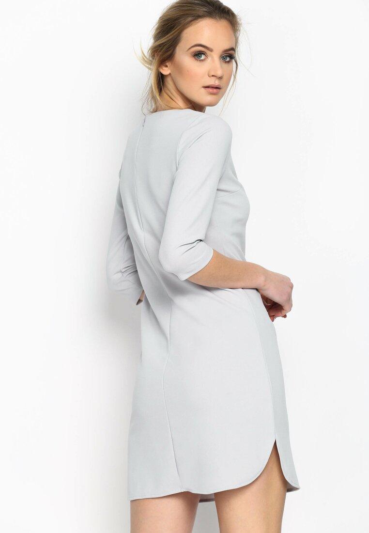 Szara Sukienka Back To Vogue