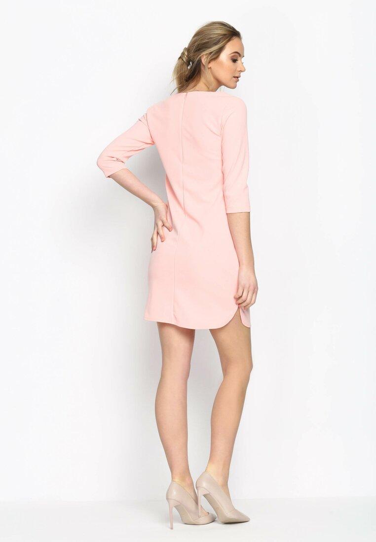 Różowa Sukienka Simple Shape