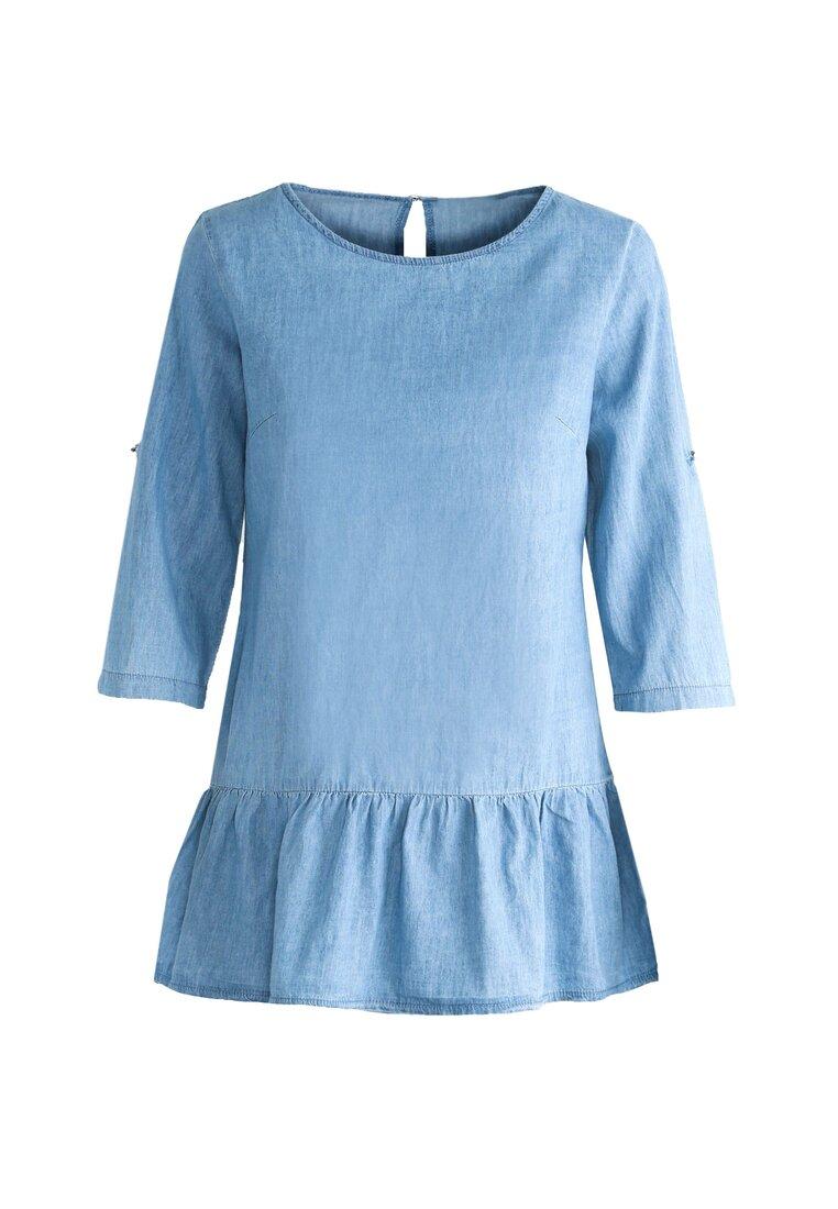 Niebieska Bluzka Peplum