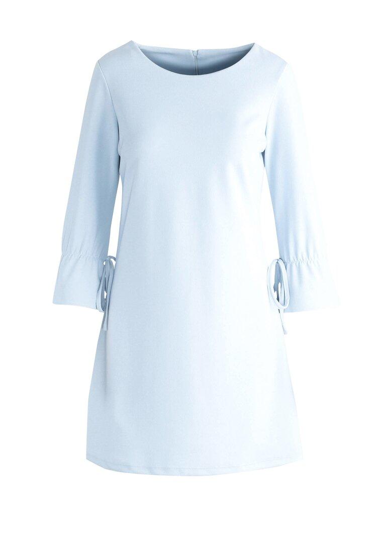 Jasnoniebieska Sukienka Casual Remark