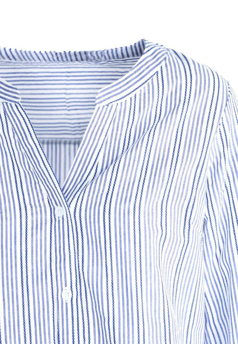 Niebieska Koszula Long Shot