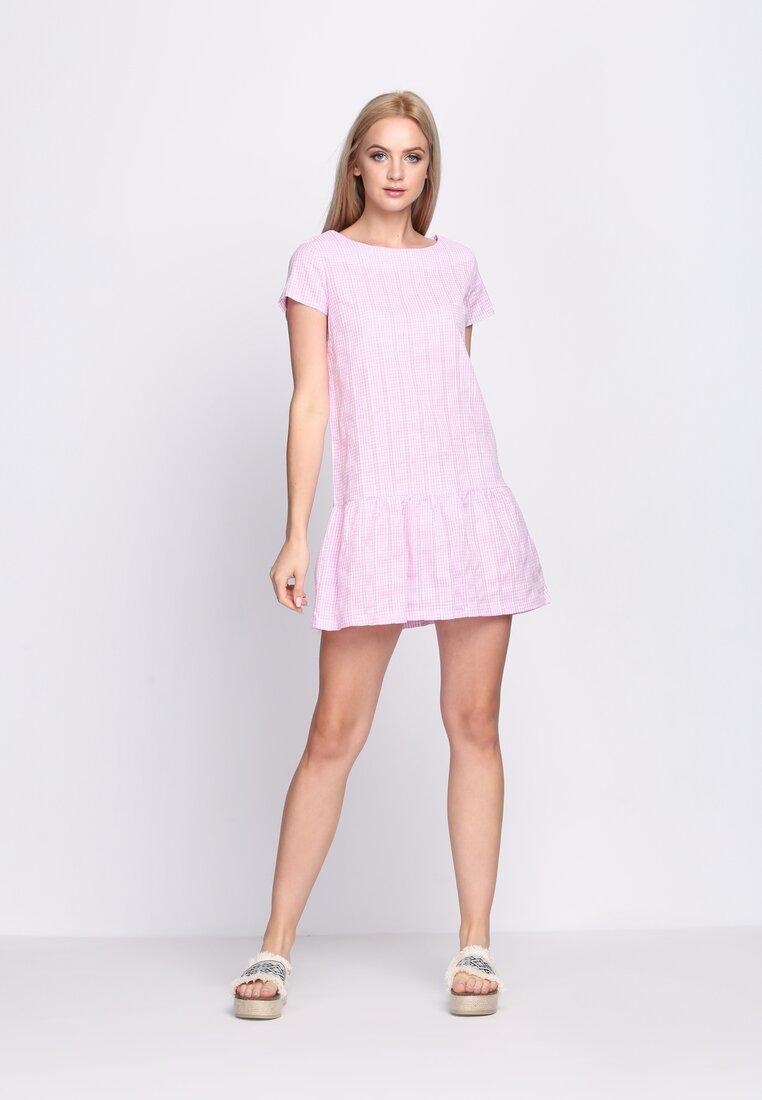 Różowa Sukienka Glamour Player