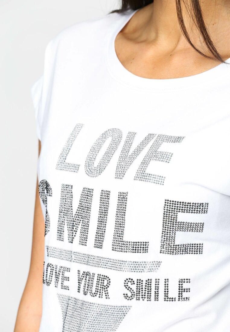 Biała Bluzka Love Smile