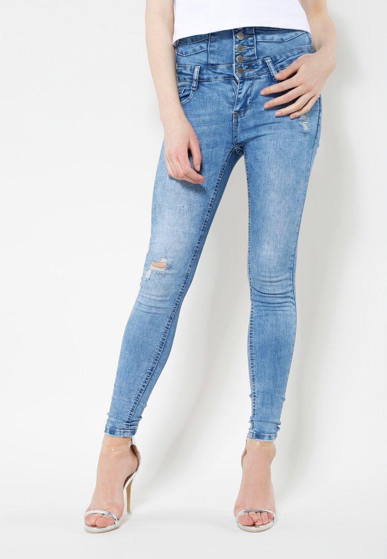 Niebieskie Jeansy Secret Back