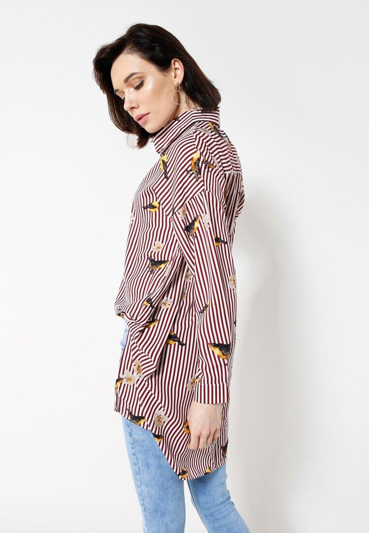 Bordowa Koszula Nightingale