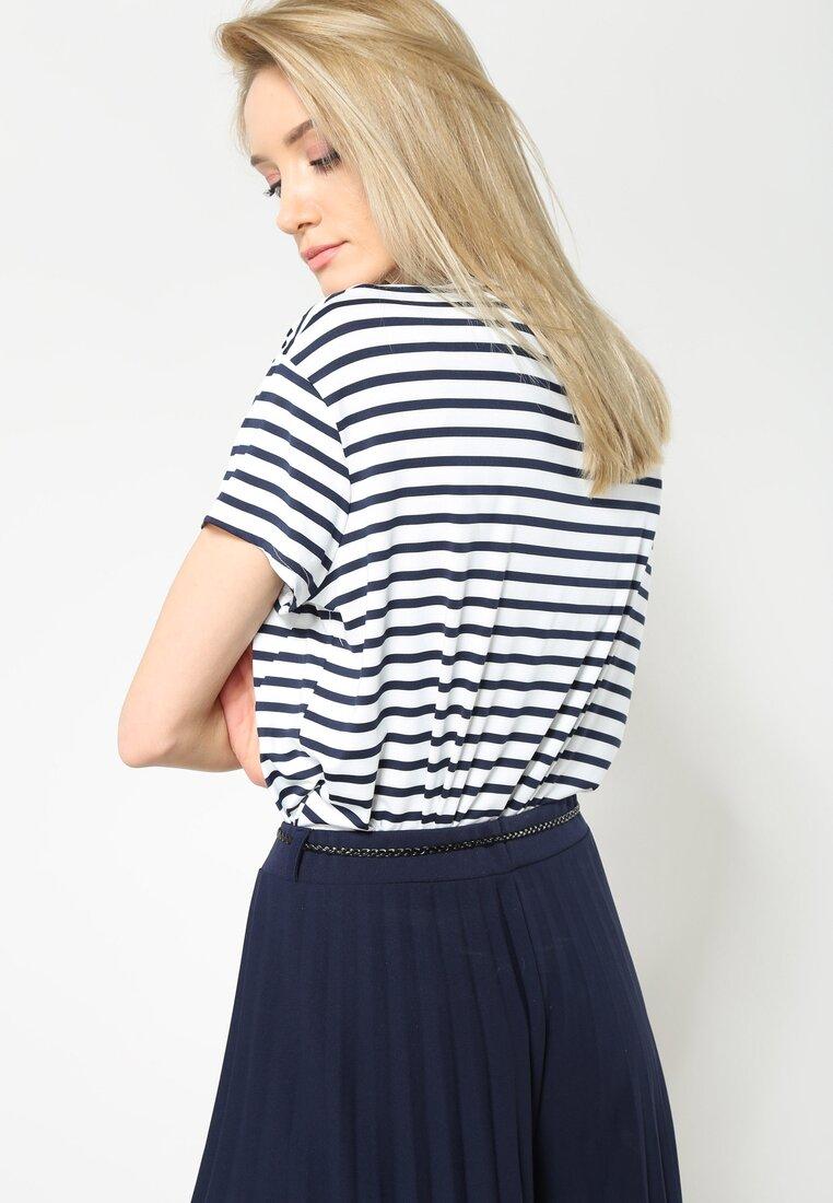 Ciemnoniebieska Bluzka I Love Stripes