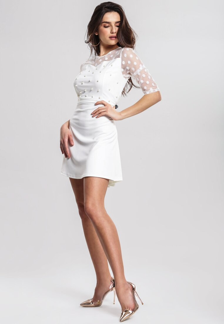 Biała Sukienka Lively Dance
