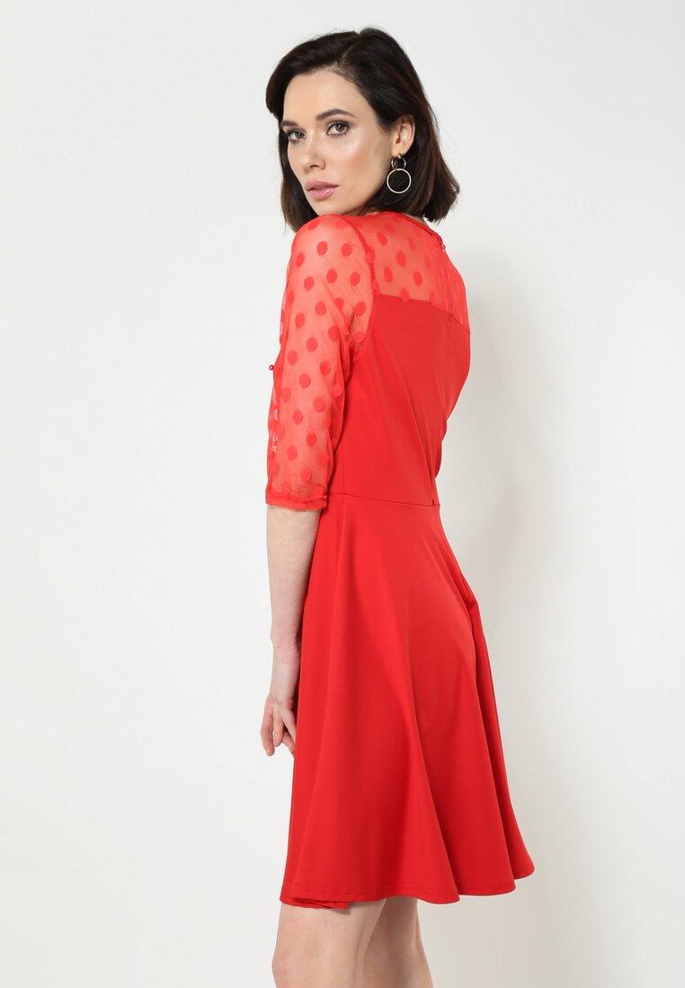Czerwona Sukienka Lively Dance