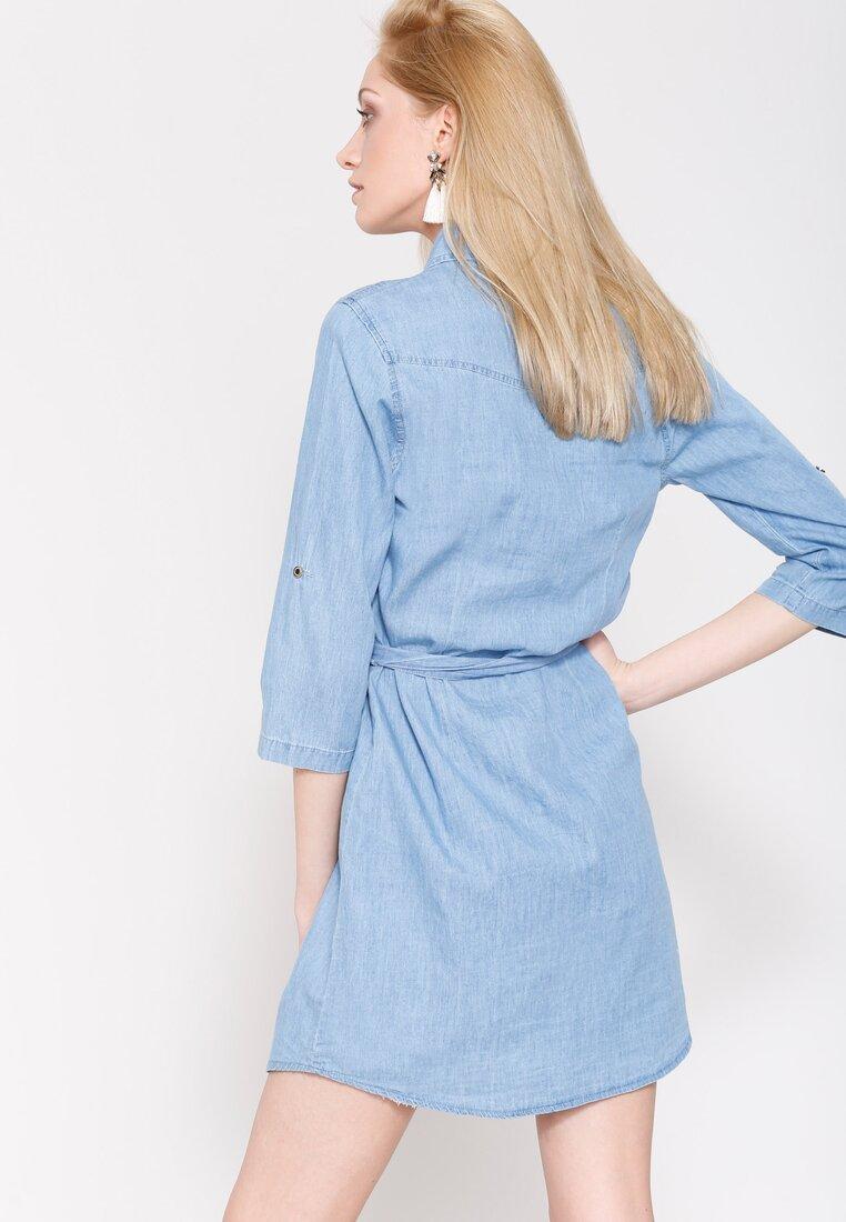 Niebieska Sukienka Rain Must Fall
