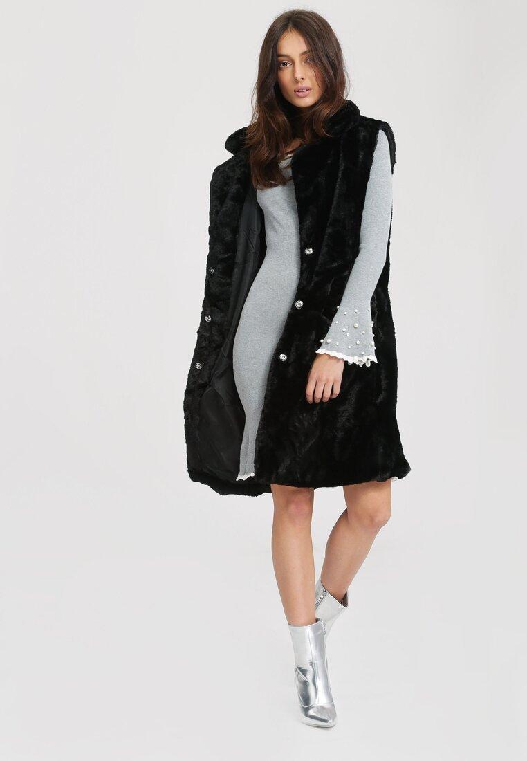 Szara Sukienka Burgund