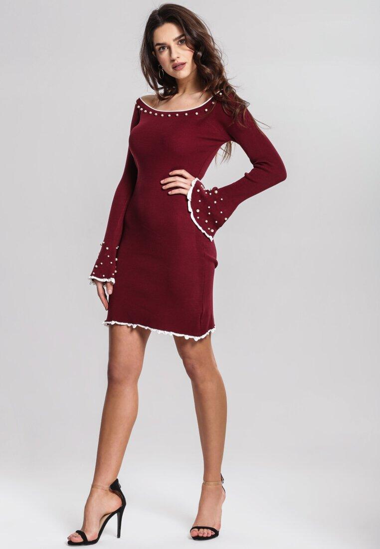 Bordowa Sukienka Burgund