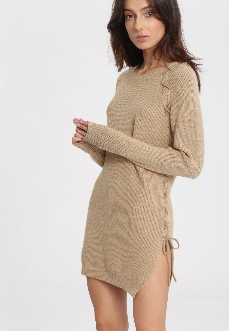 Ciemnobeżowy Sweter Pow Wow