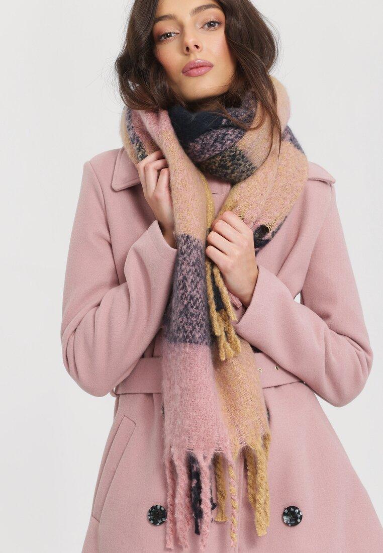 Granatowo-Różowy Szalik Aptness