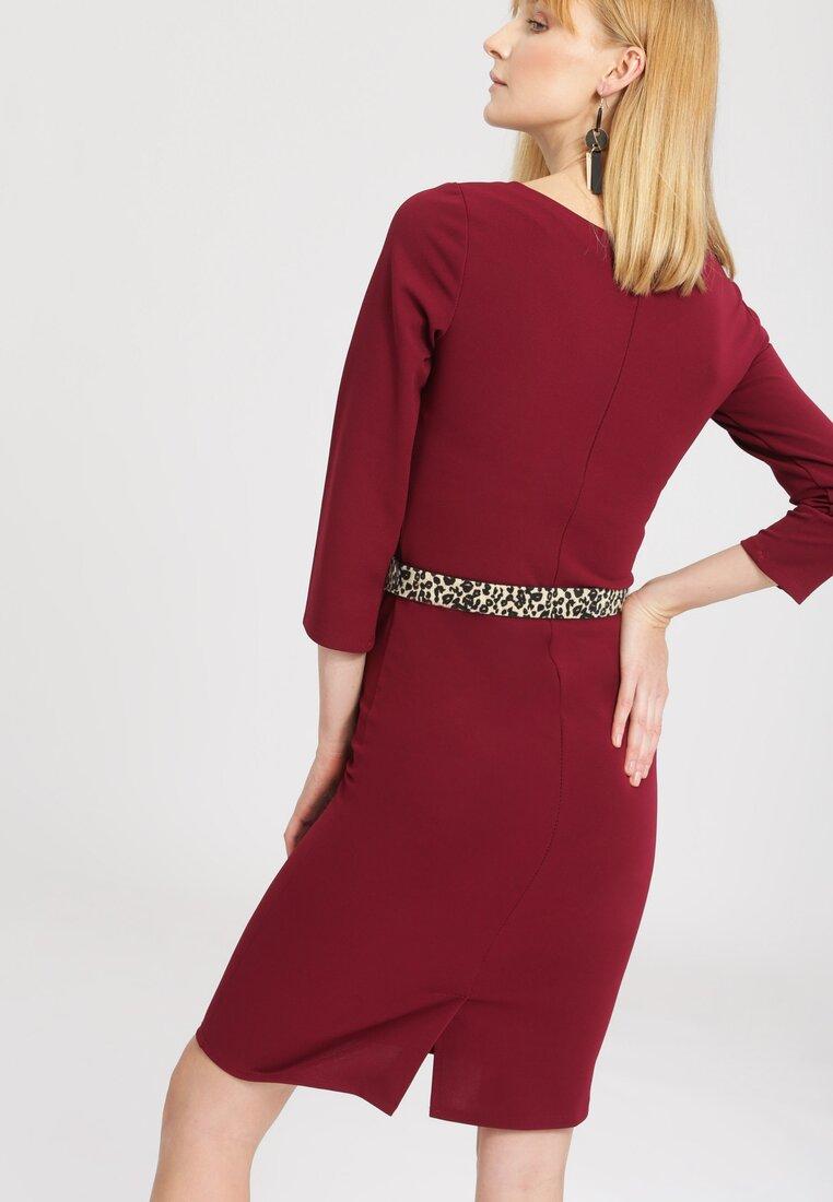Bordowa Sukienka Desiring