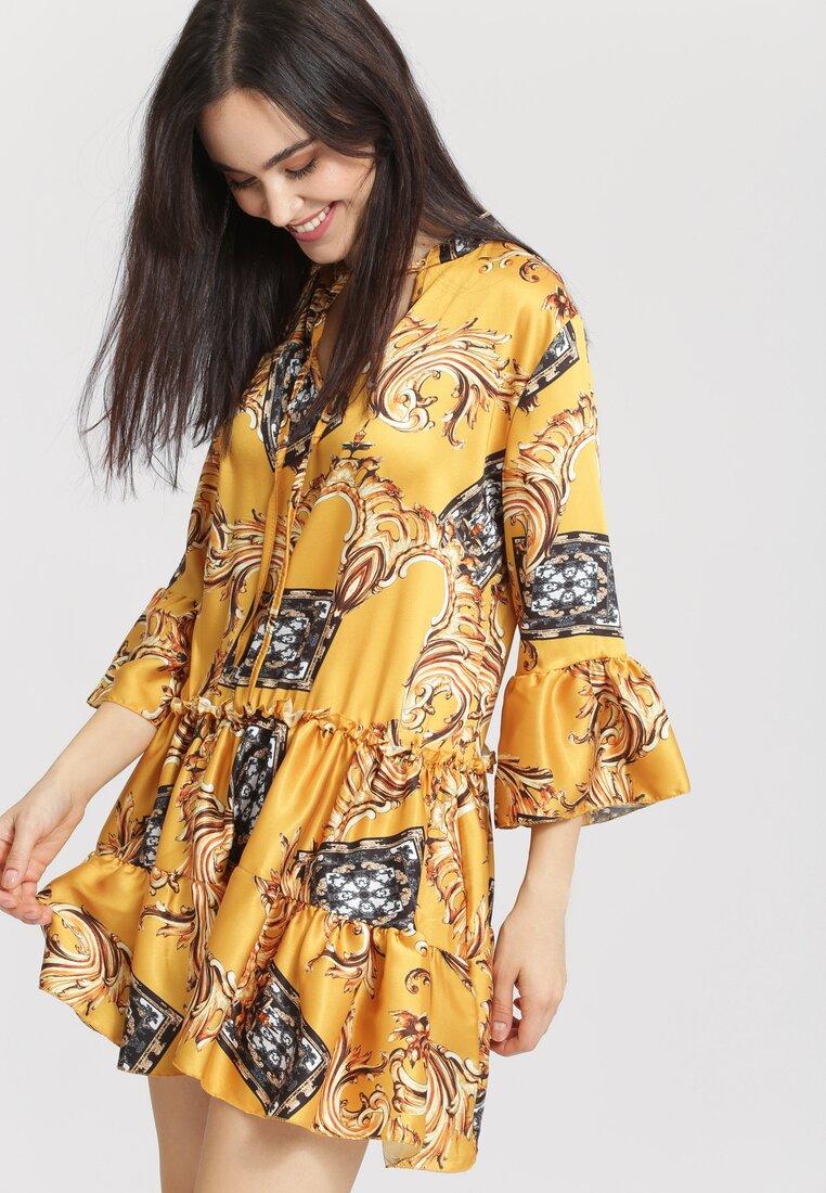 Żółta Sukienka Black Happiness