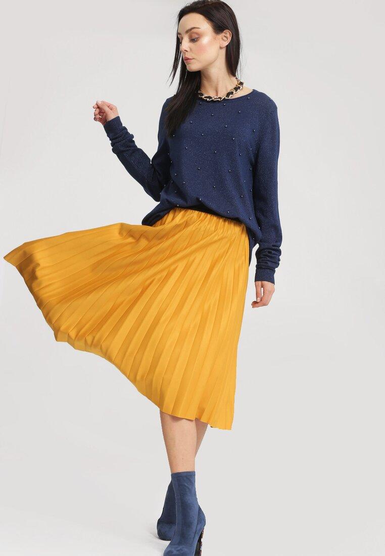 Żółta Spódnica Pleated Story