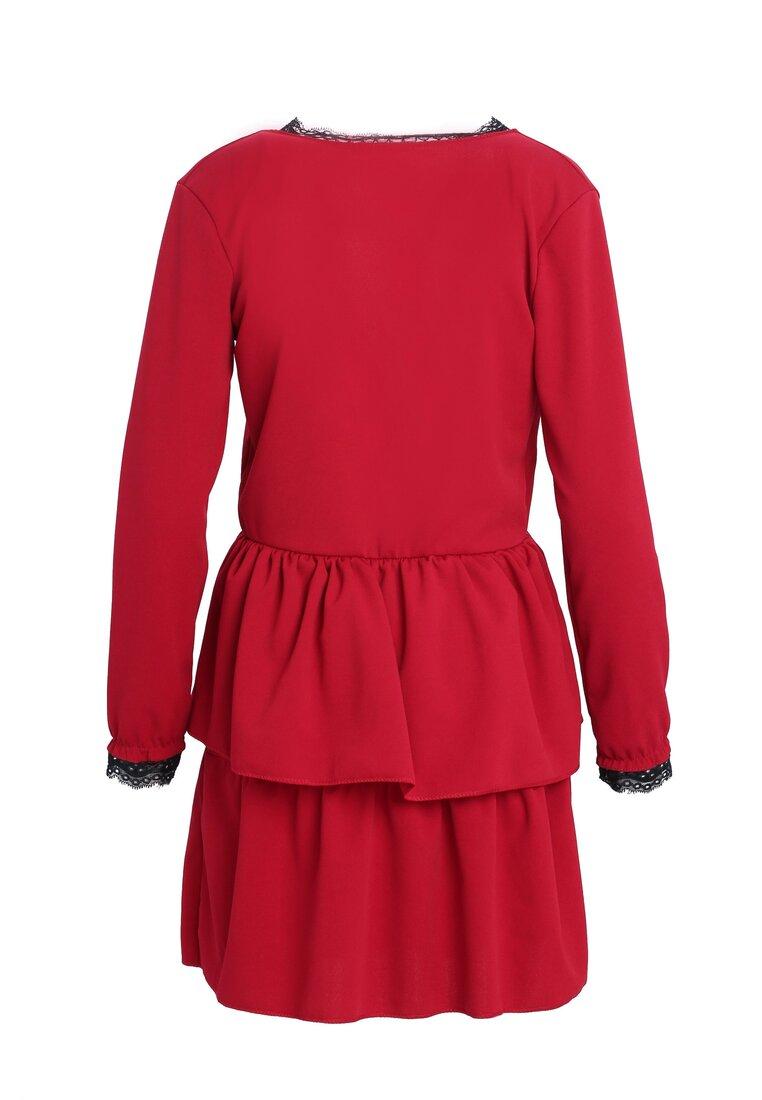 Czerwona Sukienka Deep Love