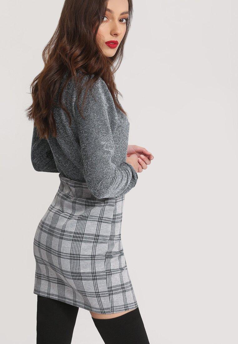 Szaro-Czarna Spódnica Symapthy
