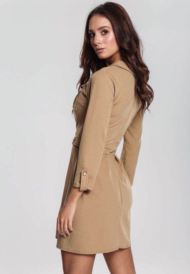 Beżowa Sukienka Prepensely