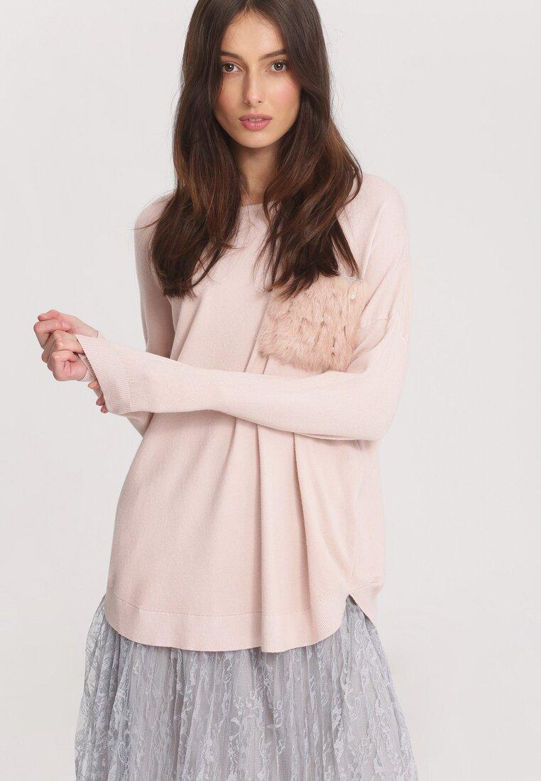 Jasnoróżowy Sweter Opuscule