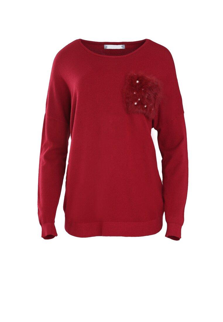 Bordowy Sweter Opuscule