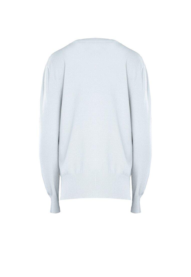 Biały Sweter Cosmos
