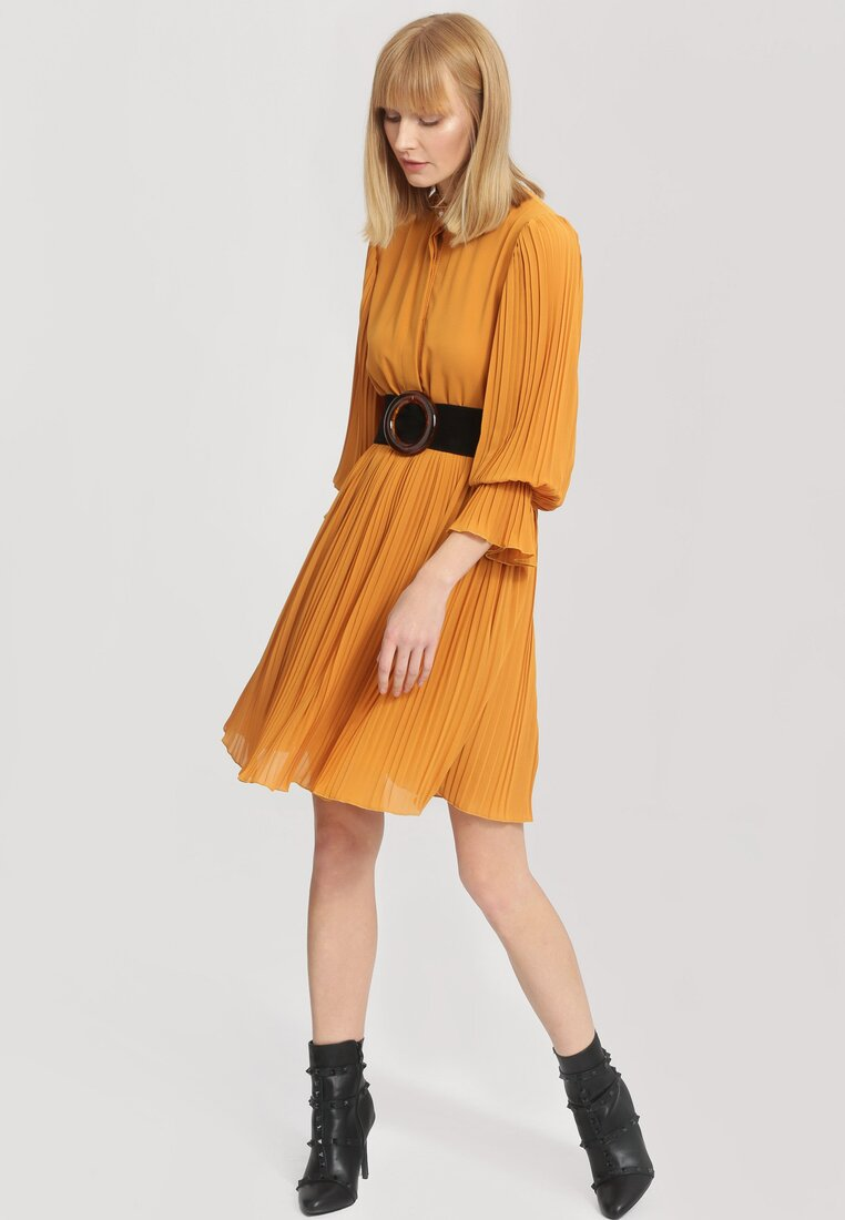 Żółta Sukienka Bottom Line