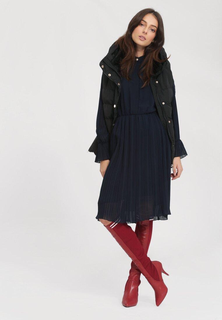 Granatowa Sukienka Bottom Line