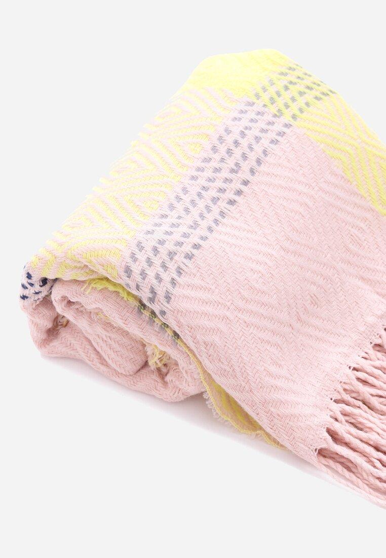 Różowo-Żółty Szalik Breath
