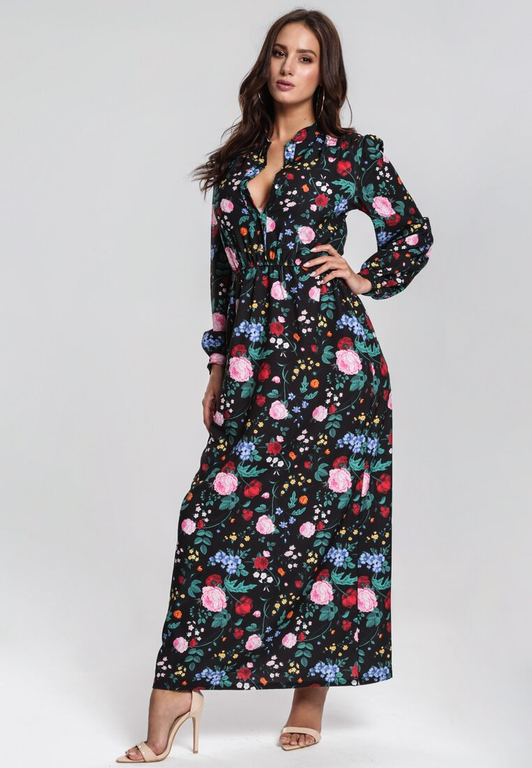 Czarno-Różowa Sukienka Telepatia