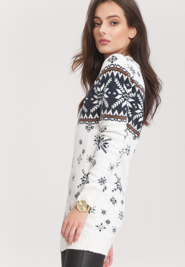 Biały Sweter No sweat