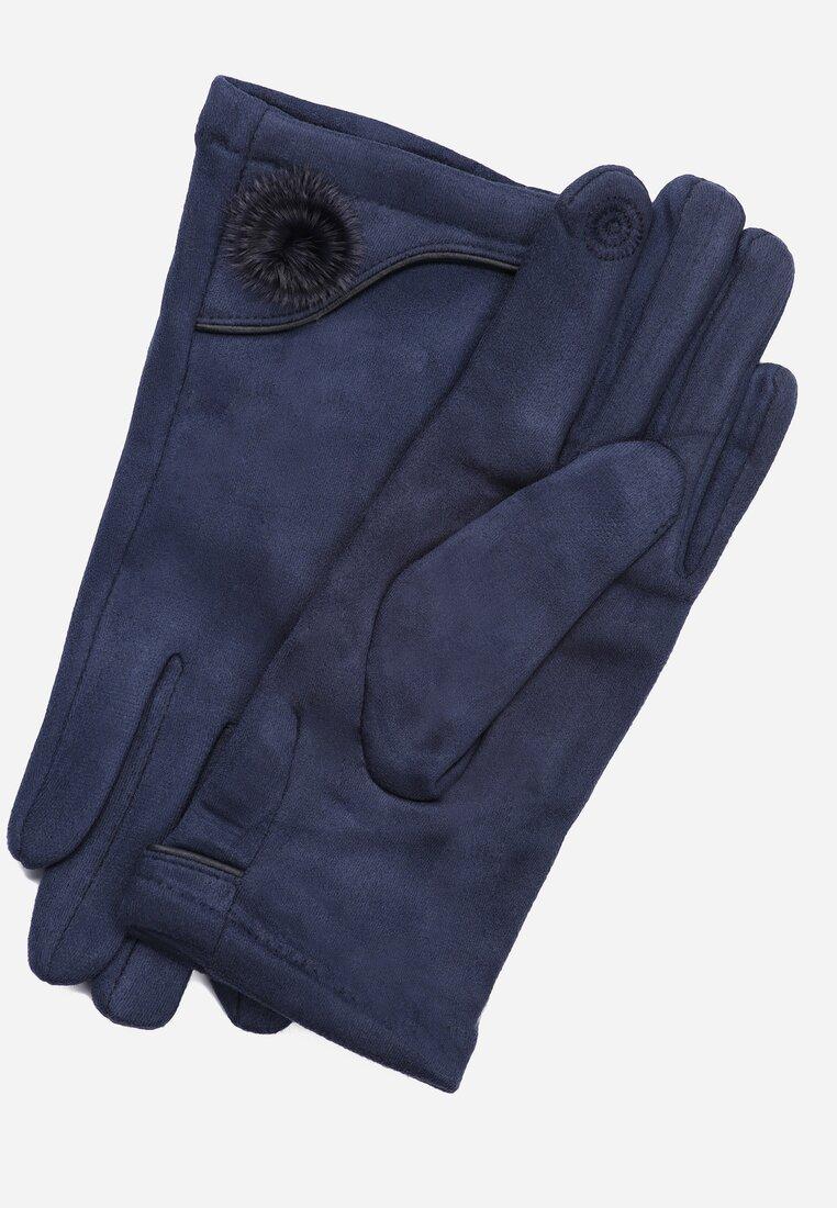Granatowe Rękawiczki Observant